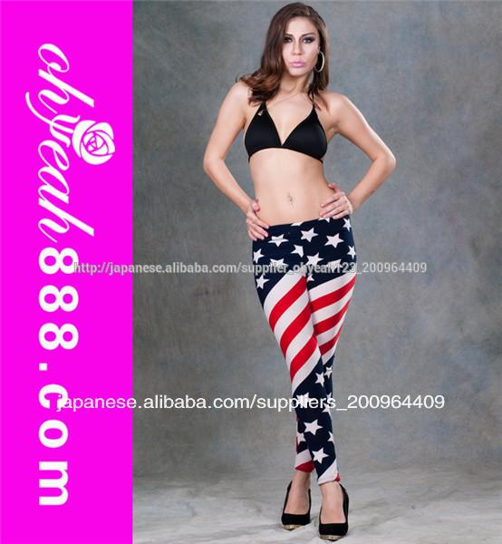売れる国旗ファッソンタイツズボンレギンス女性パンツ-ズボン問屋・仕入れ・卸・卸売り