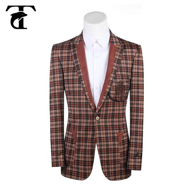 卸売カスタム1ボタンスリムフィットカジュアル赤のスーツ-スーツ、タキシード問屋・仕入れ・卸・卸売り