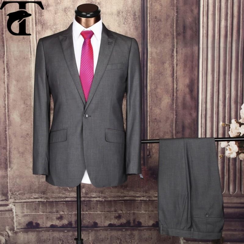 スタイリッシュスリムフィット2015ビジネスメンズオフィススーツ-スーツ、タキシード問屋・仕入れ・卸・卸売り
