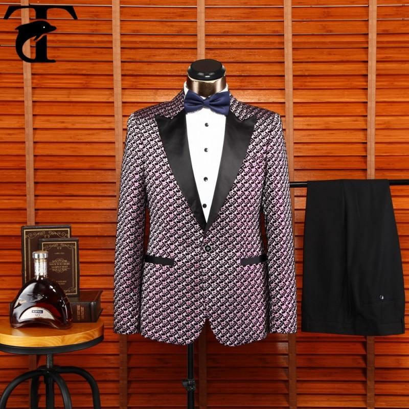 デザイナー長いスーツ新しいデザイン赤のタキシード男性用スーツ-スーツ、タキシード問屋・仕入れ・卸・卸売り