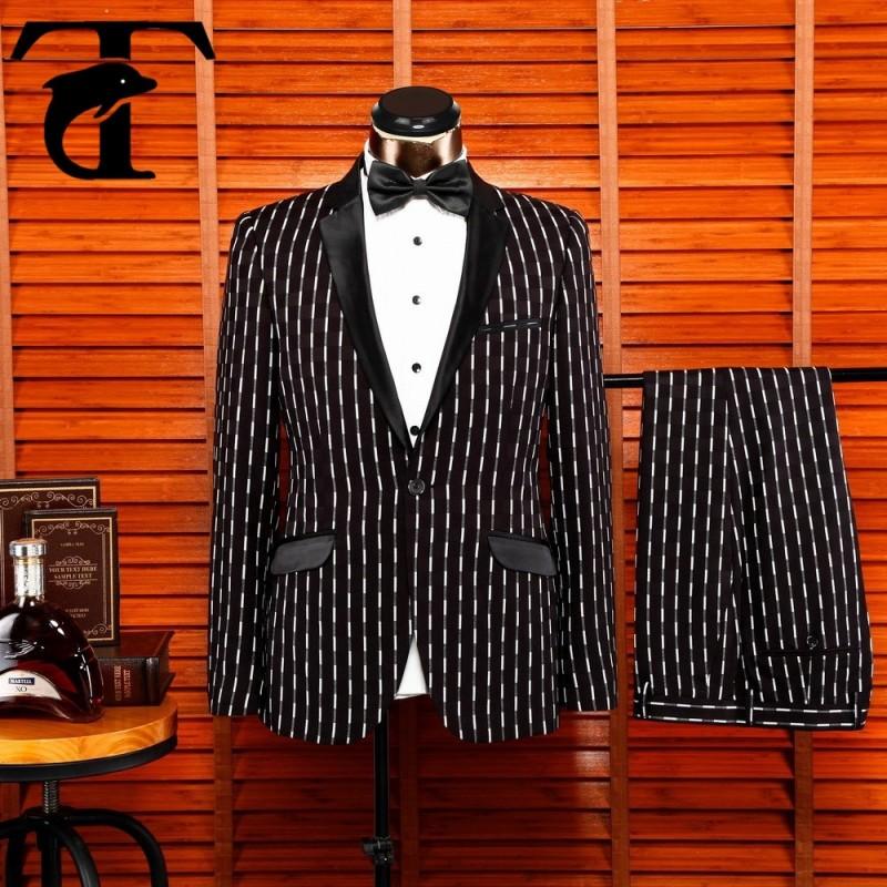 黒トレンディなレジャー男性ホット販売のためのビジネススーツ-スーツ、タキシード問屋・仕入れ・卸・卸売り