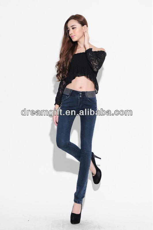 韓国のファッションの女性の鉛筆のズボン2014年足卸売冬ズボン爆発モデル女性の足は薄いスリムジーンズ( 005)-ジーンズ問屋・仕入れ・卸・卸売り