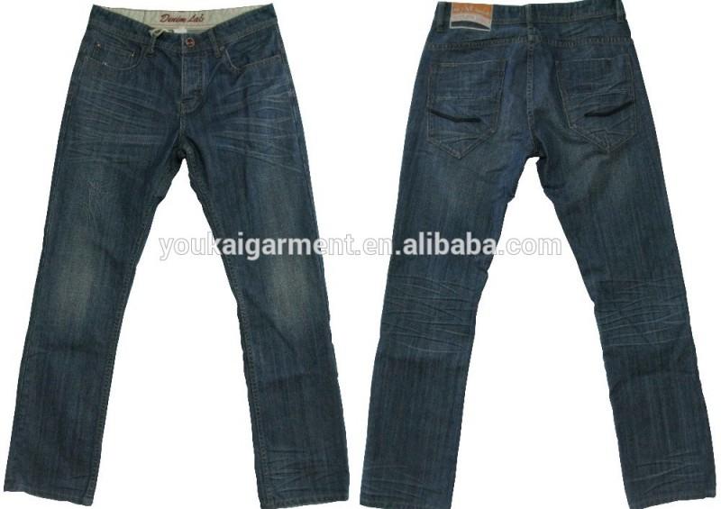 新成人最新のデザインの男のファッションウォッシュジーンズメンズストレートデニムパンツhightの質綿100%ジーンズ-ジーンズ問屋・仕入れ・卸・卸売り