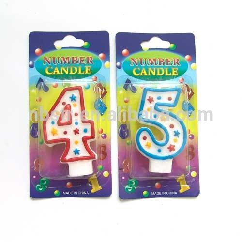 高品質の絵画2015ナンバーキャンドル、 番号0,1- 9パーティーのためのギフト-キャンドル問屋・仕入れ・卸・卸売り