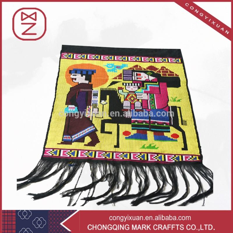 ユニークな中国の少数民族の伝統的な手工芸品tujia壁壁掛け-ブロケードの工芸品問屋・仕入れ・卸・卸売り