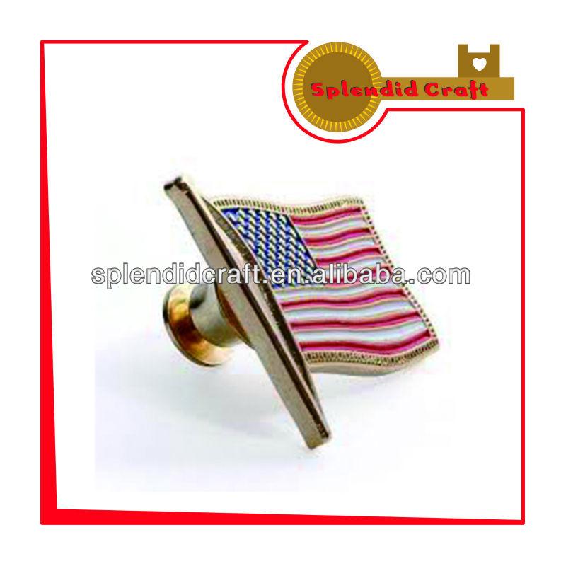 米国旗の無料サンプルの金属のラペルピン-金属工芸品問屋・仕入れ・卸・卸売り