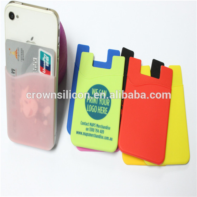 シリコーン電話3メートル粘着ステッカーカードホルダー、 シリコンスマート電話ポケット-携帯電話バッグ、ケース問屋・仕入れ・卸・卸売り