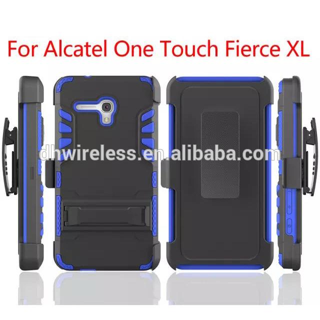 用ケースアルカテルワンタッチ激しいxl、 アルカテルのためのカバーをスタンドハイブリッドxlホルスターケース-携帯電話バッグ、ケース問屋・仕入れ・卸・卸売り