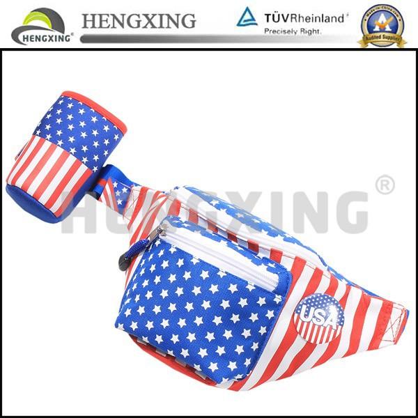 米国旗の最高品質のカスタムプリントファニーパック-ウエストバッグ問屋・仕入れ・卸・卸売り