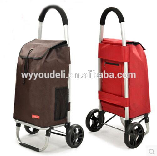 簡単なキャリー折り畳み式のショッピングトロリー袋、 の女性のトロリートートバッグ、 トロリー買い物袋、 ショッピングカート-キャリーバッグ問屋・仕入れ・卸・卸売り