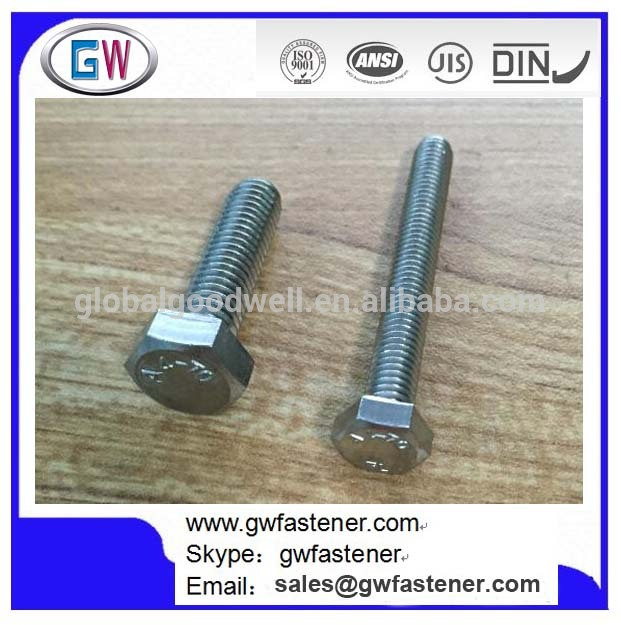 Din 933 ステンレス鋼a2-70 、 A4-70 ステンレス鋼六角ボルト-問屋・仕入れ・卸・卸売り