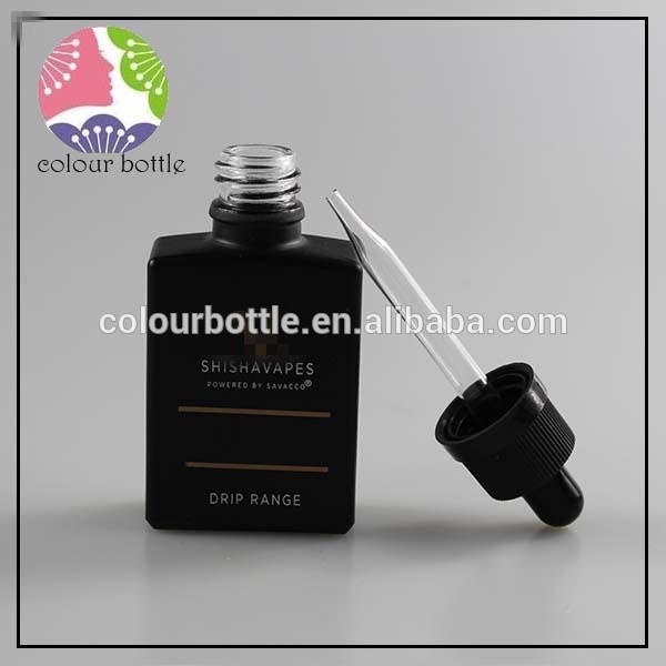 貿易保証長方形ガラス正方形eタバコ液体煙オイルガラススポイト瓶でチャイルドプルーフキャップ-ボトル問屋・仕入れ・卸・卸売り