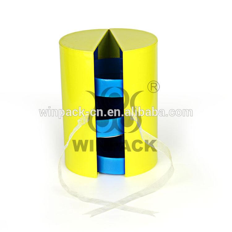 驚くべきギフト用の紙のキャニスターオープン側からラウンド支持付きインナー-梱包箱問屋・仕入れ・卸・卸売り