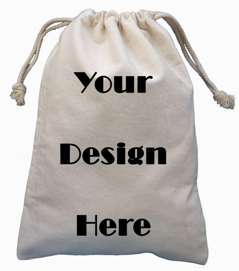 カスタマイズされたプリント小さな綿巾着ギフトバッグ-包装袋問屋・仕入れ・卸・卸売り