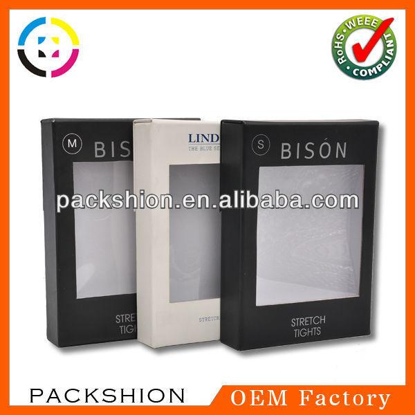 エコ- フレンドリーな黒と白用の箱を包装紙パンツ-包装袋問屋・仕入れ・卸・卸売り