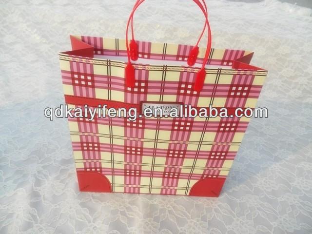 茶色のクラフト紙の袋、 と紙のギフト袋ツイストハンドル紙袋-包装袋問屋・仕入れ・卸・卸売り