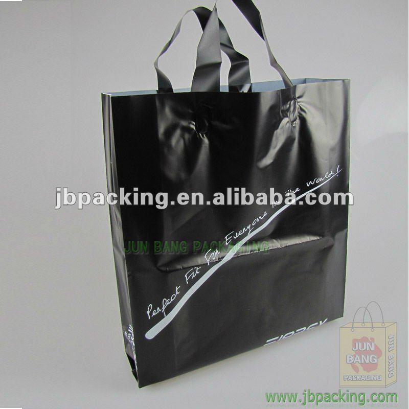 ショッピングのための黒いビニール袋/美しいプラスチック製のショッピングハンドルバッグ( ja- 120113)-包装袋問屋・仕入れ・卸・卸売り