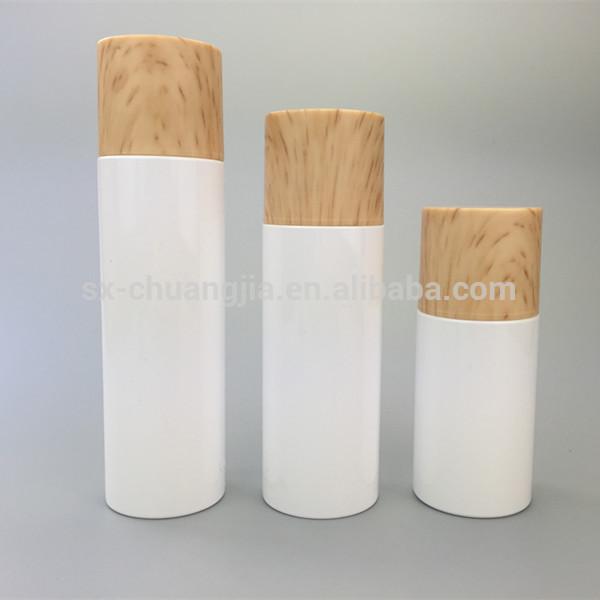 化粧品梱包白いフラットショルダーペットシリンダープラスチックボトルでネジ蓋上同じ行-問屋・仕入れ・卸・卸売り