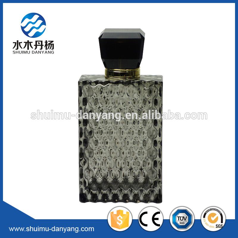 ポンプ噴霧器シールとコーティング黒色表面処理ファンシー100ミリリットルガラス香水瓶-ボトル問屋・仕入れ・卸・卸売り