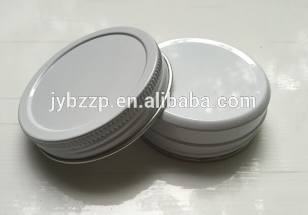 ネジ蓋ラウンド錫コンテナ白いアルミ錫キャンドル容器-缶問屋・仕入れ・卸・卸売り