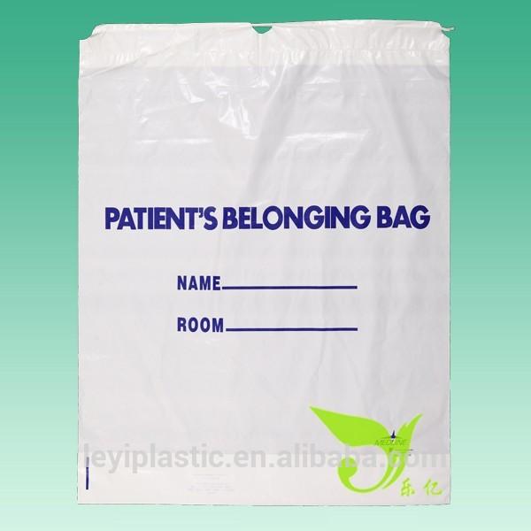 患者持ち物袋( プラスチック製巾着袋)、 ldpeカラー巾着袋白-包装袋問屋・仕入れ・卸・卸売り