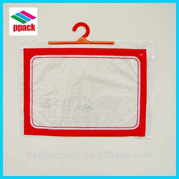 pvcプラスチック包装袋、 バッグフックハンガー、 下着のシャツバッグ-包装袋問屋・仕入れ・卸・卸売り