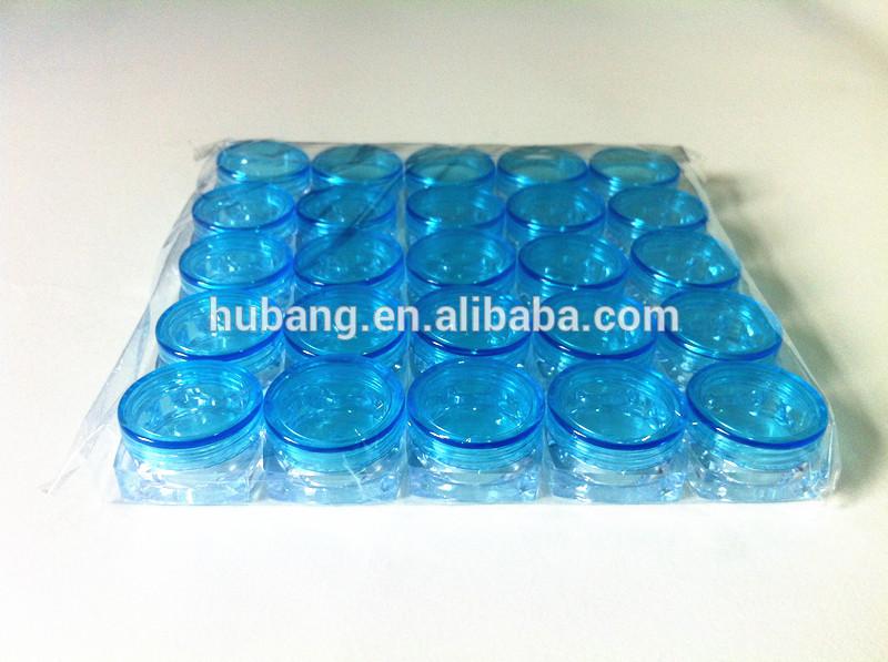 安い正方形熱い販売のカスタマイズされたパーソナルケア3ミリリットルプラスチッククリーム空のps場合/空の化粧品包装/化粧品容器-瓶、容器類問屋・仕入れ・卸・卸売り