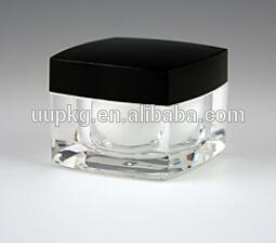 高品質の高級シリーズ新しい正方形の黒い色のアクリルの瓶-瓶、容器類問屋・仕入れ・卸・卸売り