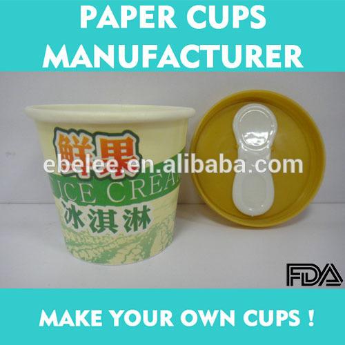 カスタマイズされた小さなアイスクリームppの蓋付きカップとスプーン-パッケージカップ、ボーリング問屋・仕入れ・卸・卸売り