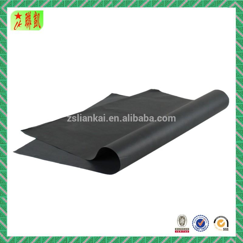 白と黒のラッピングティッシュペーパー印刷されたロゴと-専門用紙問屋・仕入れ・卸・卸売り