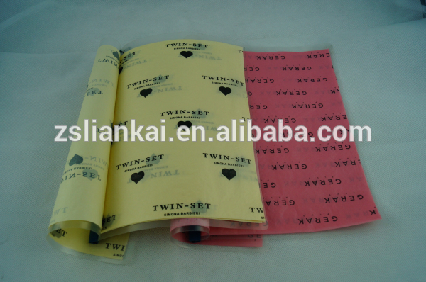 カスタマイズされた広告会社のロゴ付き紙衣類の組織-専門用紙問屋・仕入れ・卸・卸売り