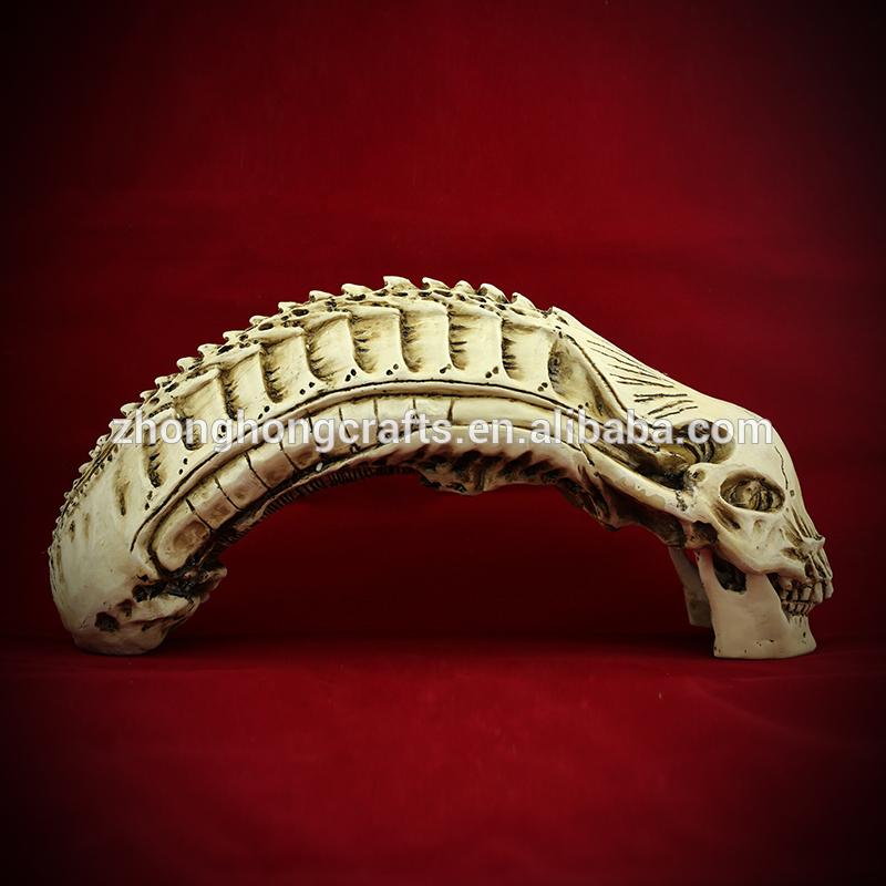 樹脂g018ハロウィーンの頭蓋骨の飾り、 樹脂の頭蓋骨!!! エイリアンの頭蓋骨ハンタートップサプライヤー!!!-アンティーク、イミテーション工芸品問屋・仕入れ・卸・卸売り