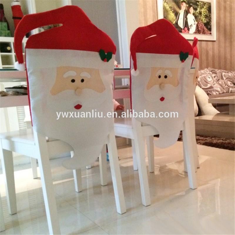 人気があり、 最も売れ卸売クリスマスラウンドバックチェア、 サンタの椅子カバー-クリスマスデコレーション用品問屋・仕入れ・卸・卸売り