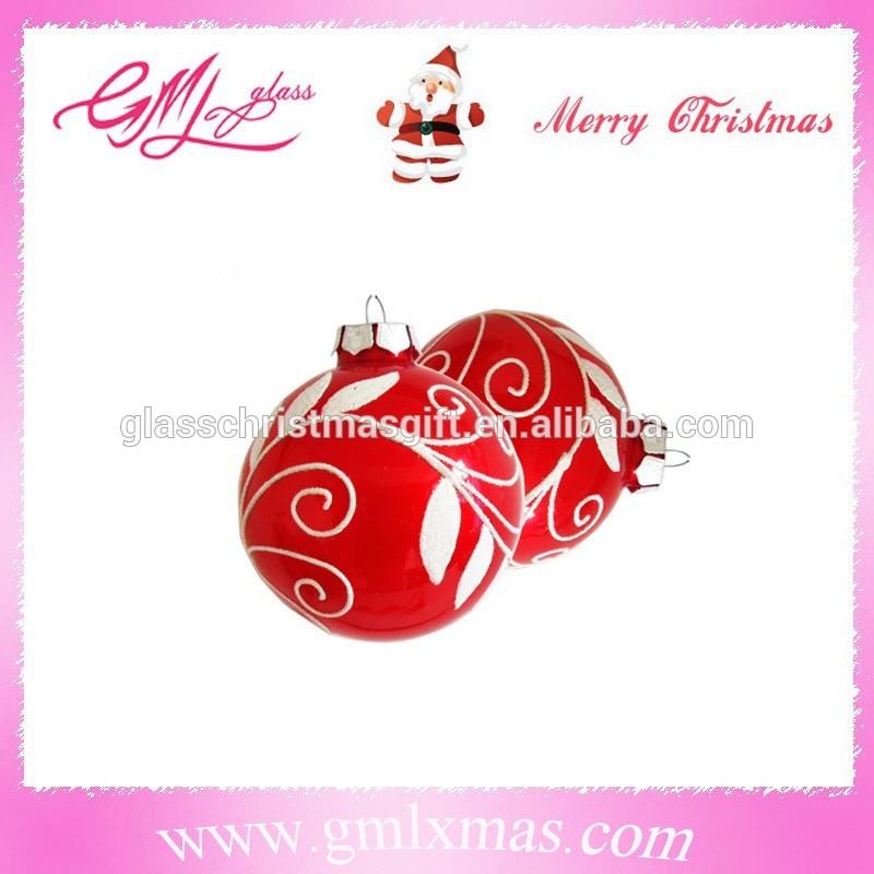 保証貿易サプライヤークリスマスの飾りをぶら下げ、 クリスマスボールを手塗り、 ガラスクリスマスボールクリスマスのガラスの装飾-クリスマスデコレーション用品問屋・仕入れ・卸・卸売り