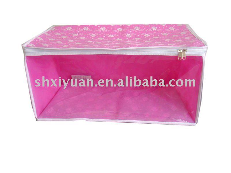 ピンクの非編まれた生地のジッパーの収納箱-織物と織物工芸問屋・仕入れ・卸・卸売り