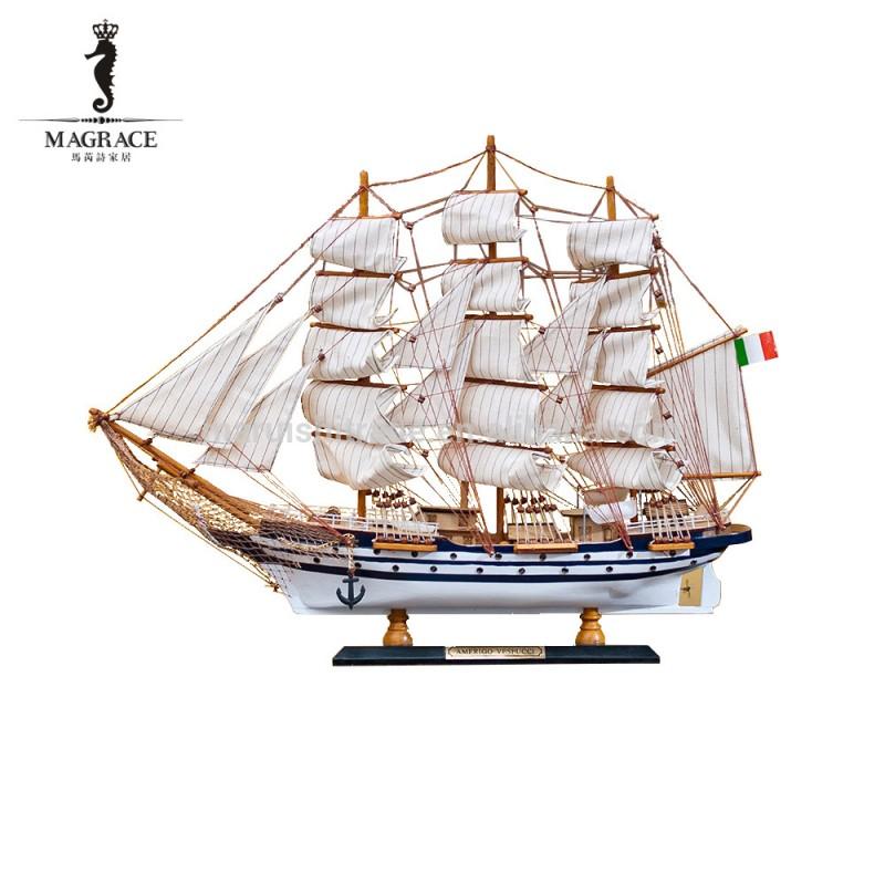 2016 ヨーロッパ帆船工芸、 ホーム デコレーション木製ジャンヌ船モデル卸売-アンティーク、イミテーション工芸品問屋・仕入れ・卸・卸売り