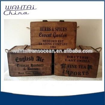 2016熱い販売アンティーク木製ビールクレート用販売-民芸品問屋・仕入れ・卸・卸売り