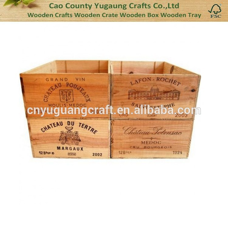 カスタム ヴィンテージ木製ワイン ボックス木製ワイン ボックス 12 ボトル ボックス-木工芸品、ウッドクラフト問屋・仕入れ・卸・卸売り