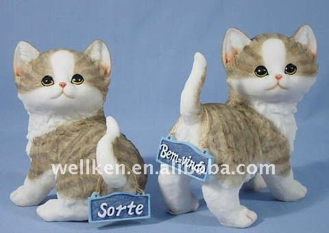 polystone 3d猫の彫像-粘土工芸品問屋・仕入れ・卸・卸売り