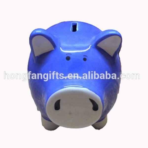 Hotsale の ブルー セラミック貯金箱コイン バンク-貯金箱問屋・仕入れ・卸・卸売り