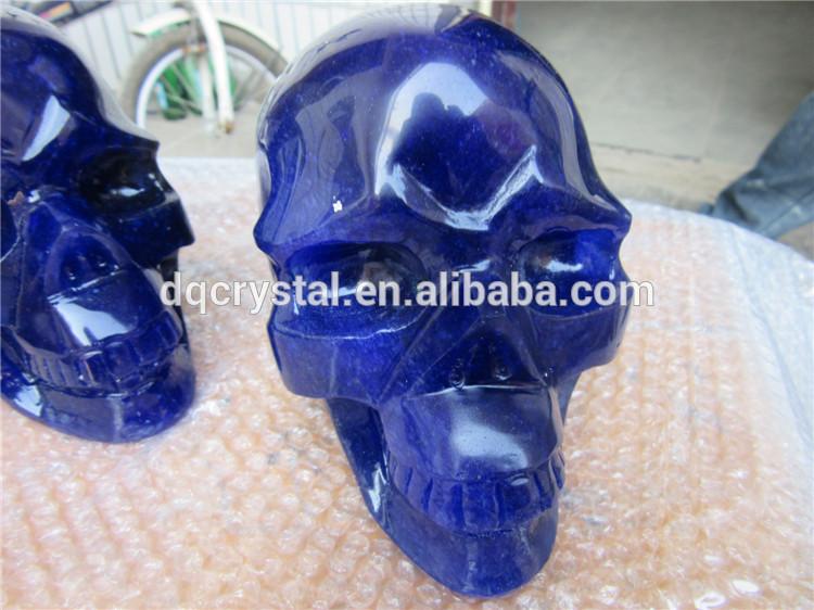 完璧な青の融点頭蓋骨彫刻が施されたクリスタル石石英-クリスタル製品問屋・仕入れ・卸・卸売り