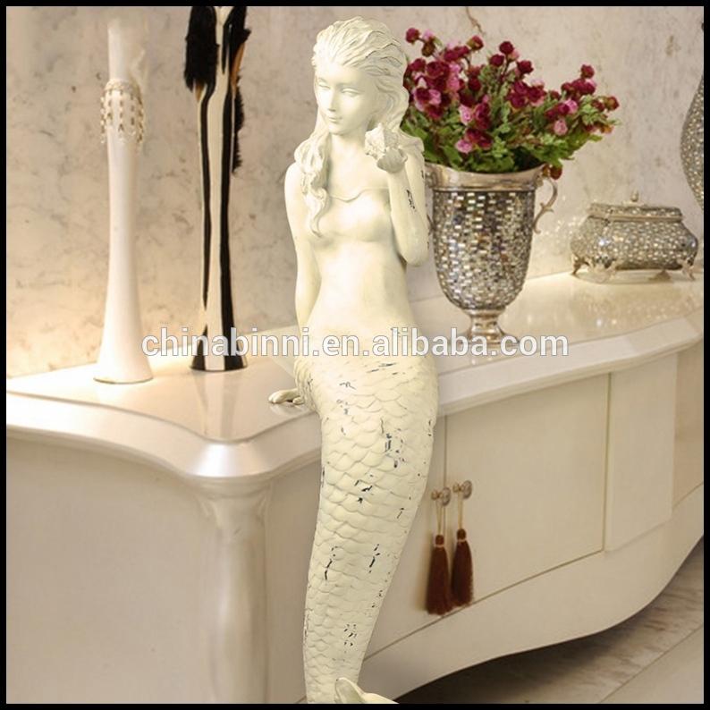 ヨーロッパ手作りユニークな樹脂マーメイド彫刻付き卓上家の装飾インテリア民芸とクラフト像-民芸品問屋・仕入れ・卸・卸売り