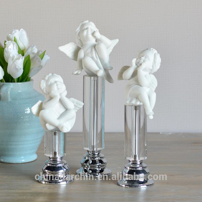 白の天使の装飾テーブルの装飾のための小さな天使の像-樹脂工芸品問屋・仕入れ・卸・卸売り