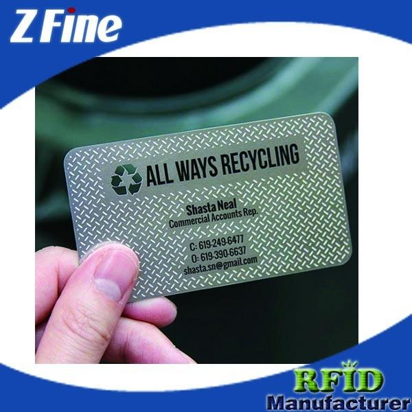 カスタム金属の名刺を刻印、 ステンレス鋼、 起毛、 光沢のある、 アンティーク、 はolished、 マットブラックメタルカード-金属工芸品問屋・仕入れ・卸・卸売り