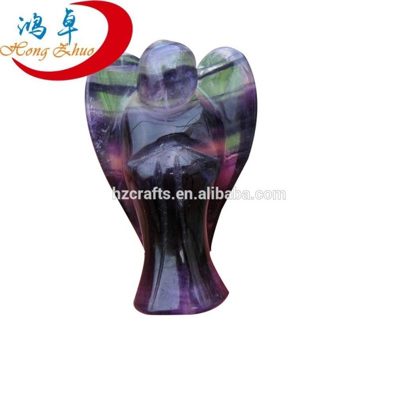 半貴重な石蛍石天使彫り-宗教工芸品問屋・仕入れ・卸・卸売り