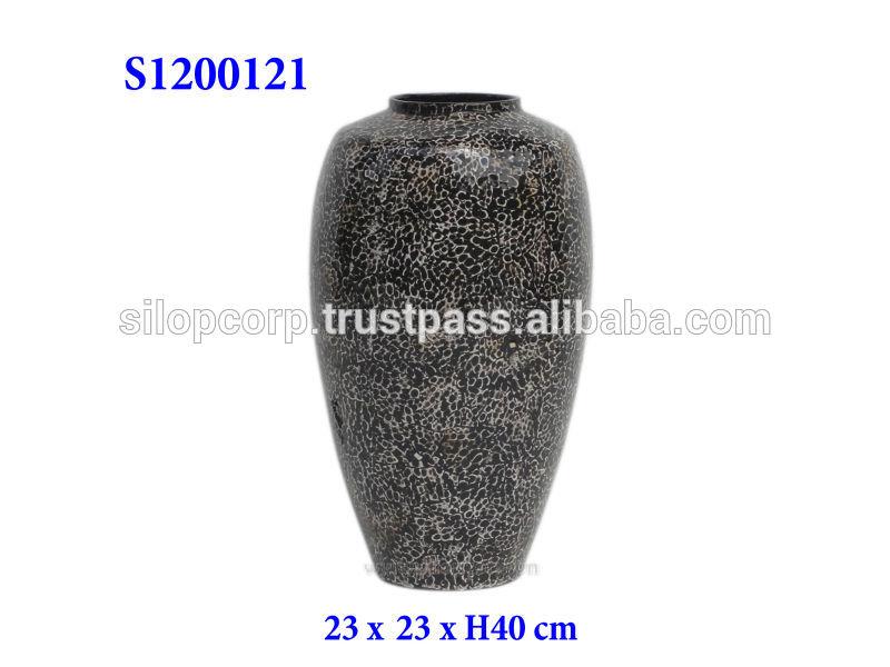 |s1200121手作りの漆の花の花瓶-民芸品問屋・仕入れ・卸・卸売り