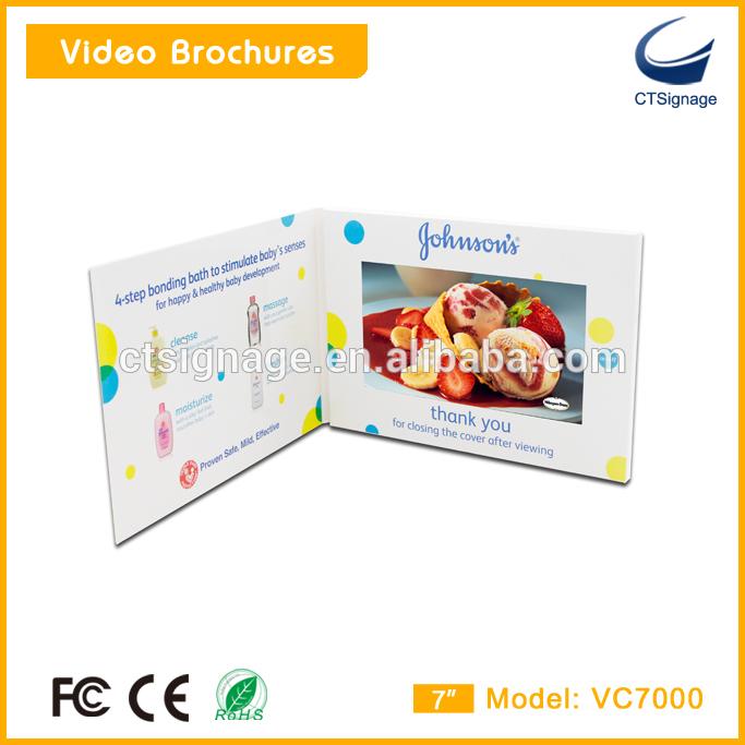招待lcd ビデオ カード カスタマイズ さ れ た高品質7 インチ液晶画面ビデオ パンフレット グリーティングカード VC7000-造花問屋・仕入れ・卸・卸売り