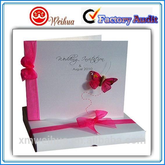折り畳み式のカーニバルで蝶の結婚式の招待状-紙工芸品、ペーパークラフト問屋・仕入れ・卸・卸売り