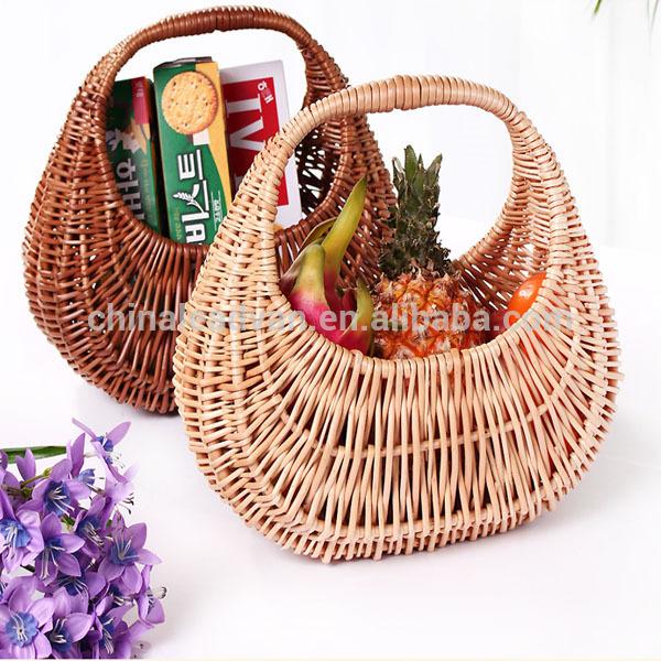 新しいデザイン良質な籐のピクニックバスケット-アンティーク、イミテーション工芸品問屋・仕入れ・卸・卸売り
