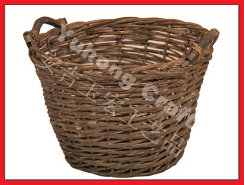 グレー色の花を植えるために使用柳のバスケット-民芸品問屋・仕入れ・卸・卸売り